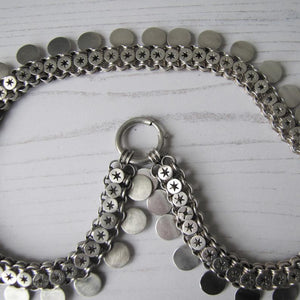 Victorian Sterling Silver Book Chain Necklace