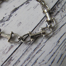 Load image into Gallery viewer, Sterling Silver Bridle Bit Bracelet. Equestrian Gucci Style Snaffle Bracelet, - MercyMadge
