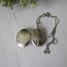 Load image into Gallery viewer, Vintage Sterling Silver Large Victorian Style Book Chain Locket - MercyMadge