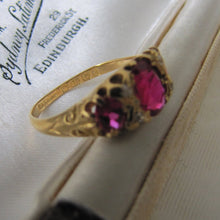Load image into Gallery viewer, Antique 18ct Gold Ruby & Diamond Ring - MercyMadge