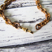 Load image into Gallery viewer, Antique Rolled Rose Gold Watch Chain Bracelet - MercyMadge