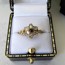 Load image into Gallery viewer, Georgian 15ct Gold & Topaz Flower Ring
