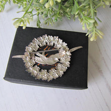 Load image into Gallery viewer, Victorian Sterling Silver Sweetheart Swallow Brooch