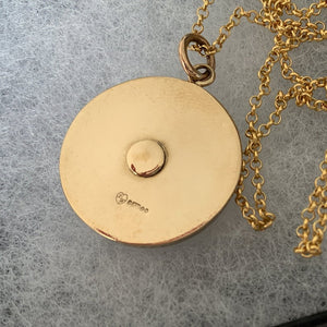 Vintage 1960's 9ct Gold Spinning Roulette Wheel Pendant - MercyMadge