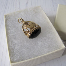 Load image into Gallery viewer, 9ct Gold & Onyx Claddagh Pendant Fob - MercyMadge
