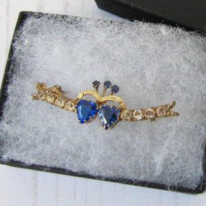 Victorian 9ct Gold Sweetheart Brooch
