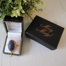Load image into Gallery viewer, Antique Georgian Ring, Silver Gold & Lapis Lazuli