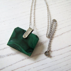 Victorian Carved Malachite & Silver Book Pendant Fob