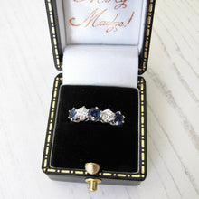 Load image into Gallery viewer, Edwardian Revival 14ct Gold CZ Diamond & Sapphire Eternity Ring - MercyMadge
