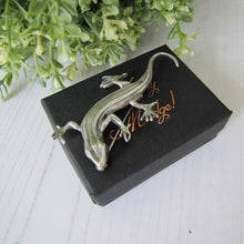Load image into Gallery viewer, Vintage Sterling Silver Lizard Brooch, Mexico