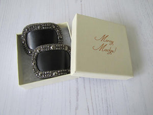 Pair Of Georgian Cut Steel Shoe Buckles - MercyMadge
