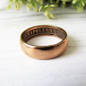 Antique French Napoleon Coin Ring