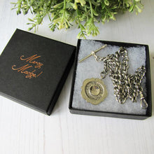 Load image into Gallery viewer, Antique Double Albert Sterling Silver Pocket Watch Chain & Fob. - MercyMadge