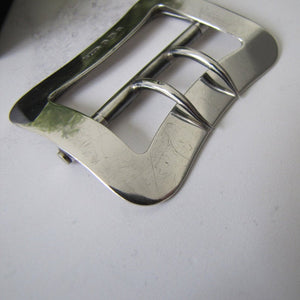 English Edwardian Silver Belt Buckle