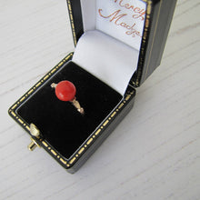 Load image into Gallery viewer, Antique 14ct Gold Red Coral Ring - MercyMadge