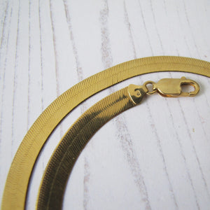 Italian 18ct Gold Omega Necklace
