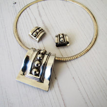 Load image into Gallery viewer, Margot De Taxco Sterling Silver Pendant & Earring Set, Mexico, 1950's - Mercy Madge