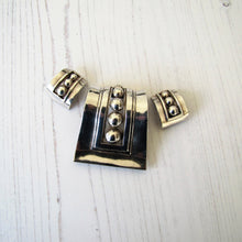 Load image into Gallery viewer, Margot De Taxco Sterling Silver Pendant & Earring Set, Mexico, 1950's - MercyMadge
