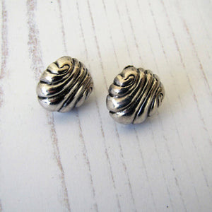William Spratling Sterling Silver Shell Earrings - Mercy Madge