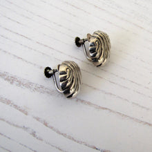 Load image into Gallery viewer, William Spratling 1940s Taxco Silver Shell Earrings - MercyMadge