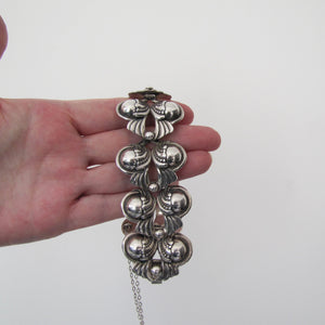 Margot De Taxco, Mexico Sterling Silver Bracelet, Design 5240 - Mercy Madge