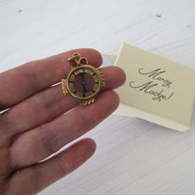 Load image into Gallery viewer, Antique Gold Gilt Compass Pendant Fob - MercyMadge