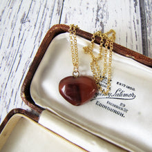Load image into Gallery viewer, Victorian Carved Hardstone Heart Pendant Necklace - MercyMadge