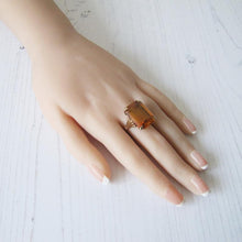 Load image into Gallery viewer, 12 Carat Madeira Citrine Ring, 9ct Rose Gold. - MercyMadge