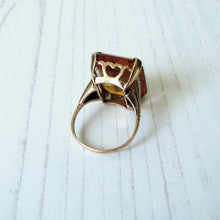 Load image into Gallery viewer, 12 Carat Madeira Citrine Ring, 9ct Rose Gold. - Mercy Madge
