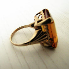 Laden Sie das Bild in den Galerie-Viewer, 12 Carat Madeira Citrine Ring, 9ct Rose Gold. - MercyMadge