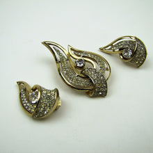 Load image into Gallery viewer, Vintage 1950's Kramer New York Brooch & Earring Set. - MercyMadge