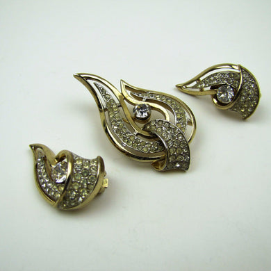 Vintage 1950's Kramer New York Brooch & Earring Set. - Mercy Madge