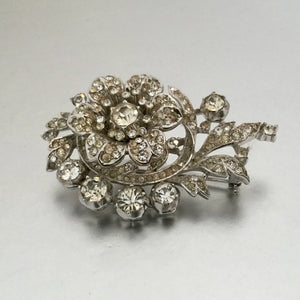 Alfred Philippe Trifari Rhodium Silver & Crystal  Diamante Fur Clip. - MercyMadge