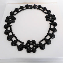 Load image into Gallery viewer, Victorian Whitby Jet Collar Necklace - MercyMadge