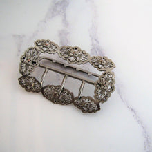 Load image into Gallery viewer, Victorian Sterling Silver & Gold Belt Buckle - MercyMadge