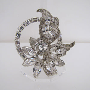 1950's Eisenberg Crystal Brooch & Earring Set - MercyMadge