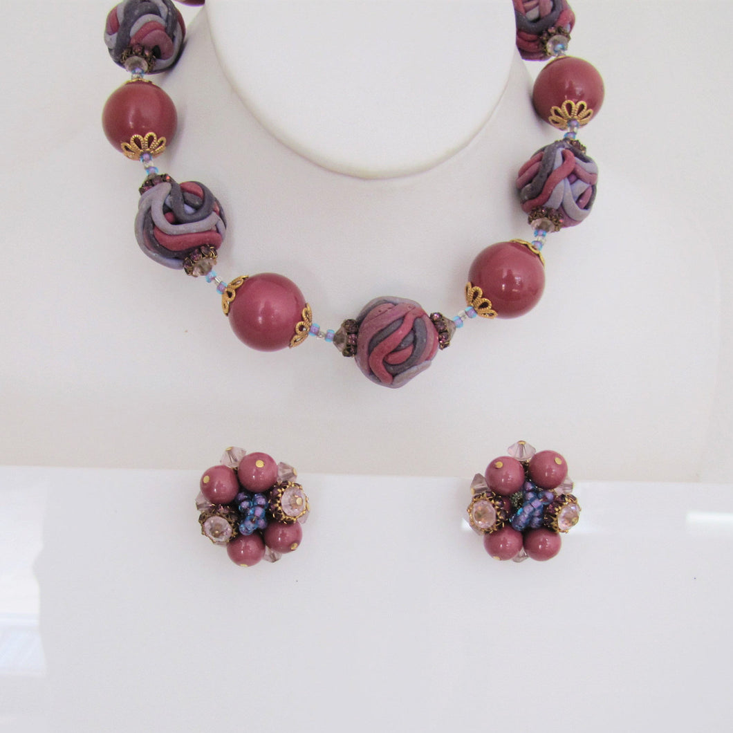 Vintage 1960s Vendome Necklace & Earring Set. - MercyMadge