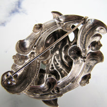 Load image into Gallery viewer, Antique Art Nouveau Silver Brooch, Edwardian - MercyMadge