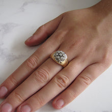 Load image into Gallery viewer, Mens Diamond Cluster Gypsy Ring. 14ct Gold. - MercyMadge