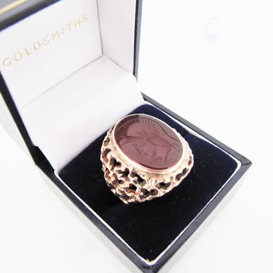 Gents 1970s 9ct Gold Intaglio Ring - Mercy Madge