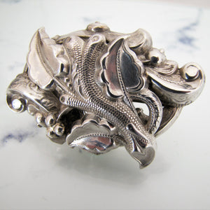 Antique Art Nouveau Silver Brooch, Edwardian - MercyMadge