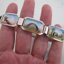 Load image into Gallery viewer, 1940's South Africa Silver Enamel Souvenir Bracelet. - Mercy Madge