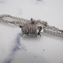 Load image into Gallery viewer, Victorian Boar Pendant Charm Necklace, Sterling Silver - MercyMadge