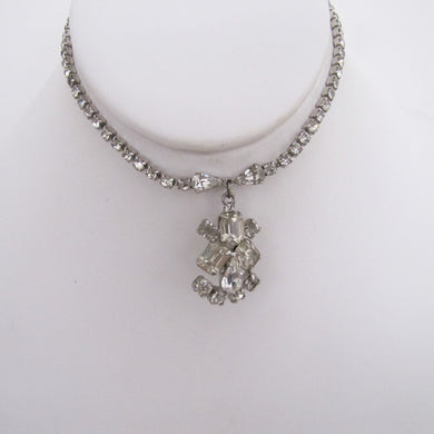 1930s Art Deco Crystal Rhinestone Necklace. - MercyMadge