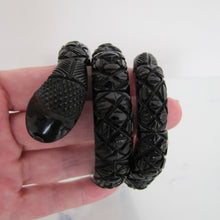 Load image into Gallery viewer, Victorian Whitby Jet Segmented Snake Bracelet. - MercyMadge