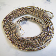 "Load image into Gallery viewer, Victorian 60"" Sterling Silver Guard Chain - MercyMadge"