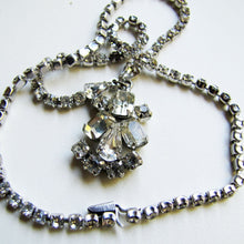 Load image into Gallery viewer, 1930s Art Deco Crystal Rhinestone Necklace. - MercyMadge