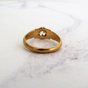 Victorian 18ct Gold Diamond Belcher Ring - MercyMadge