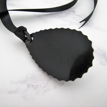 Load image into Gallery viewer, Victorian Black Horn & Vulcanite Mourning Pendant - MercyMadge