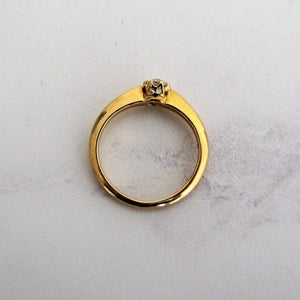 Antique 18ct Gold Diamond Solitaire Engagement Ring. - Mercy Madge
